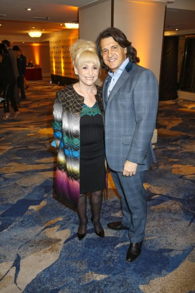 Barbara Windsor at an event wit her husband