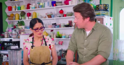 jamie oliver and salma hayek