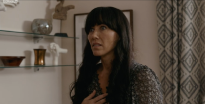 Faith confronted Lev in Casualty