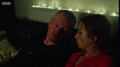 John Gordon Sinclair as Drew in Traces (Credit: BBC One)