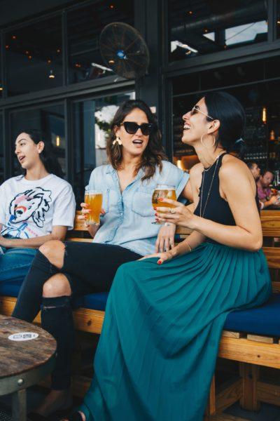 two women in a pub