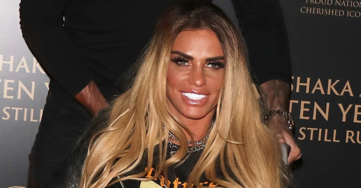 Katie price on the red carpet