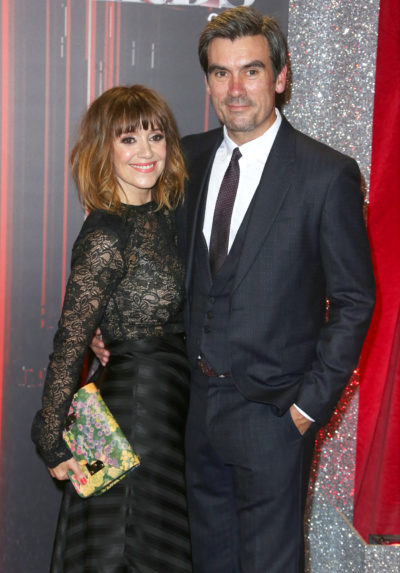 Zoe Henry and Jeff hordley on the red carpet