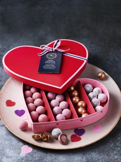 pink valentines chocolates