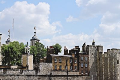 the tower of London in the sunshine