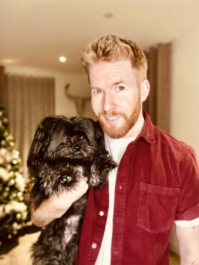 neil jones and his dog