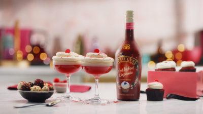 Baileys red velvet martinis