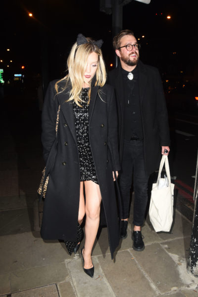 laura whitmore and iain stirling leave halloween ball