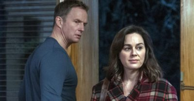 Rupert Penry-Jones and Jill Halfpenny in The Drowning on C5