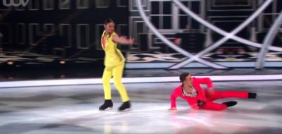 Joe Warren falls on Dancing ON Ice