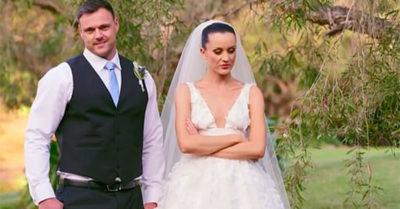 ines wedding day