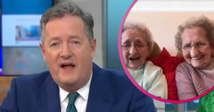 Piers Morgan and Britain's oldest twins