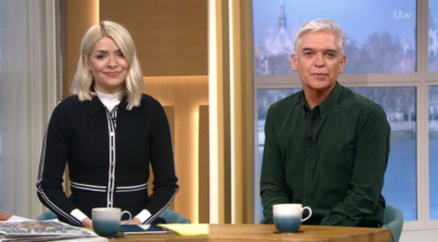 holly and Phil presenting this morning