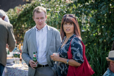 Sunetra Sarker and Steven Robertson in The Bay on ITV1