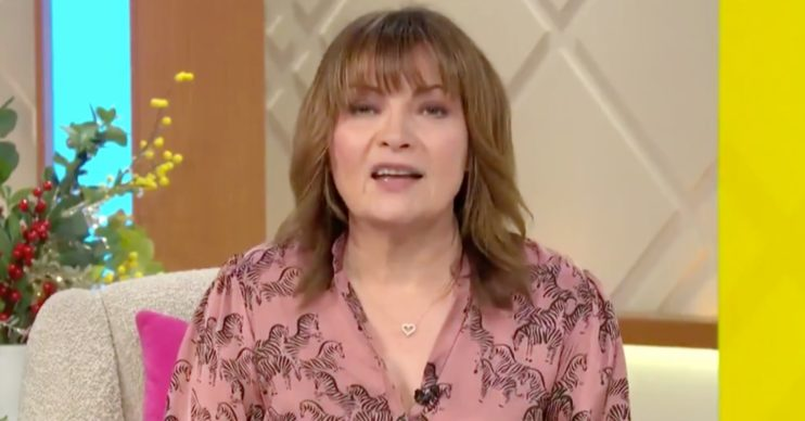 Lorraine Kelly on her breakfast TV show