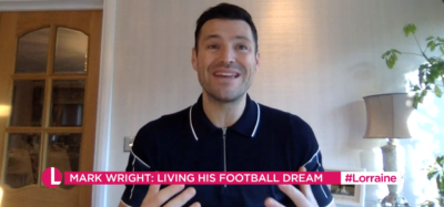 Mark WRight speaking about Mick Norcross death on Lorraine
