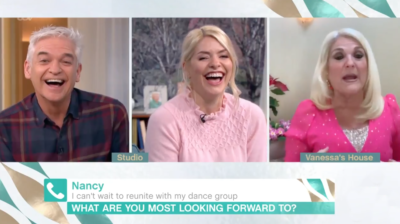 holly laughing on this morning