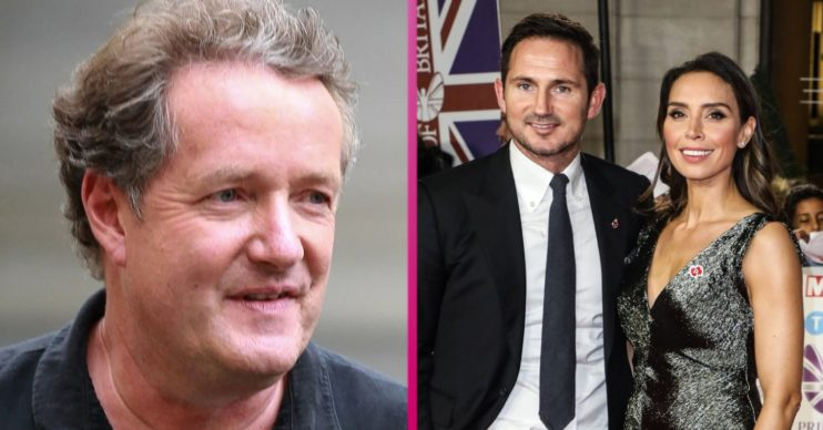Manager Frank Lampard, Christine and Piers Morgan