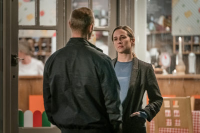 Lisa Armstrong is at a low ebb during series two of The Bay (Credit: ITV1)