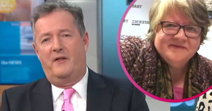 Piers Morgan and Therese Coffey on GMB