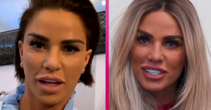 Katie Price shows off short hair on This Morning