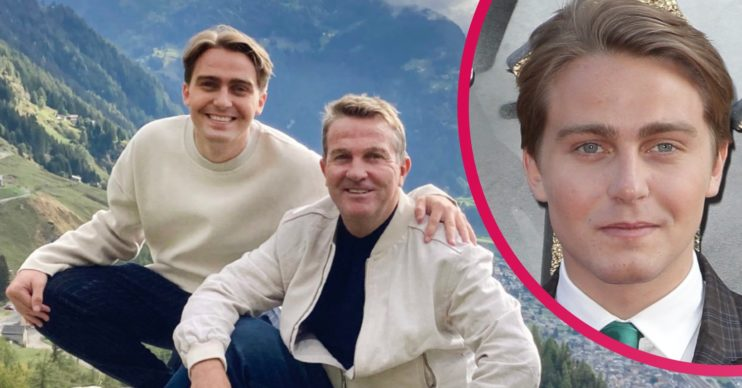 Bradley Walsh and son barney breaking dad