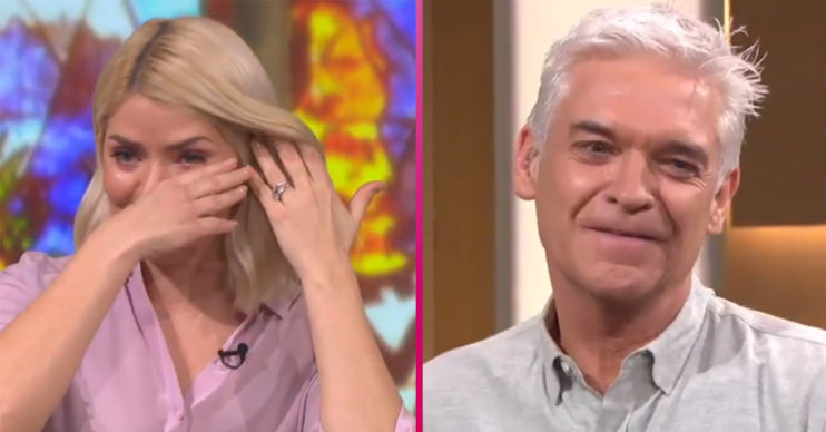 Holly Willoughby crying on This Morning
