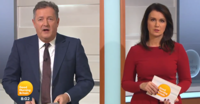 Piers Morgan and Susanna REid on GMB today