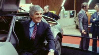 John DeLorean and his world-famous car