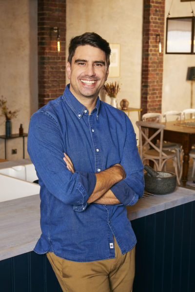 Chris Bavin on Celebrity Best Home Cook has enjoyed a meteoric rise to fame