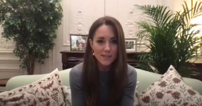 Kate Middleton speaks to Holocaust survivors