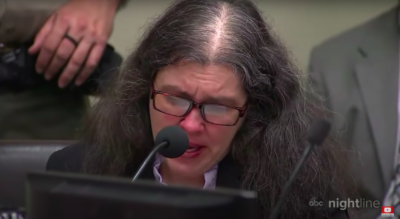 Louise Turpin reads her statement in court