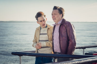 Shaun Dooley with his on-screen son in It's a Sin