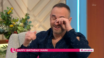Mark Heyes had happy tears on Lorraine