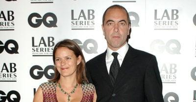 james nesbitt with his ex-wife