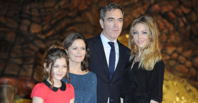 James Nesbitt with ex wife and kids
