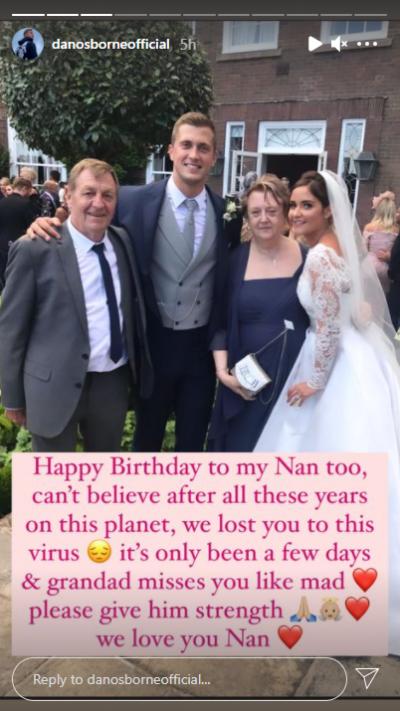 Dan Osborne reveals nan has died