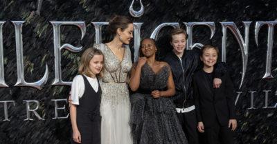 zahara jolie-pitt at film premiere