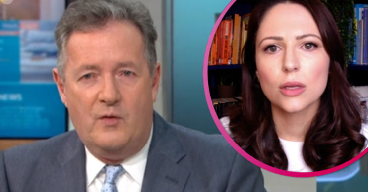 Piers Morgan and Nicola Thorp