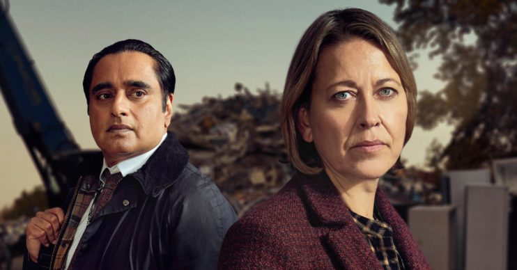 Nicola Walker and Sanjeev Bhaskar in Unforgotten on ITV1
