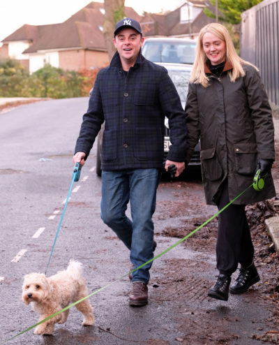 ant and anne-marie walking dogs