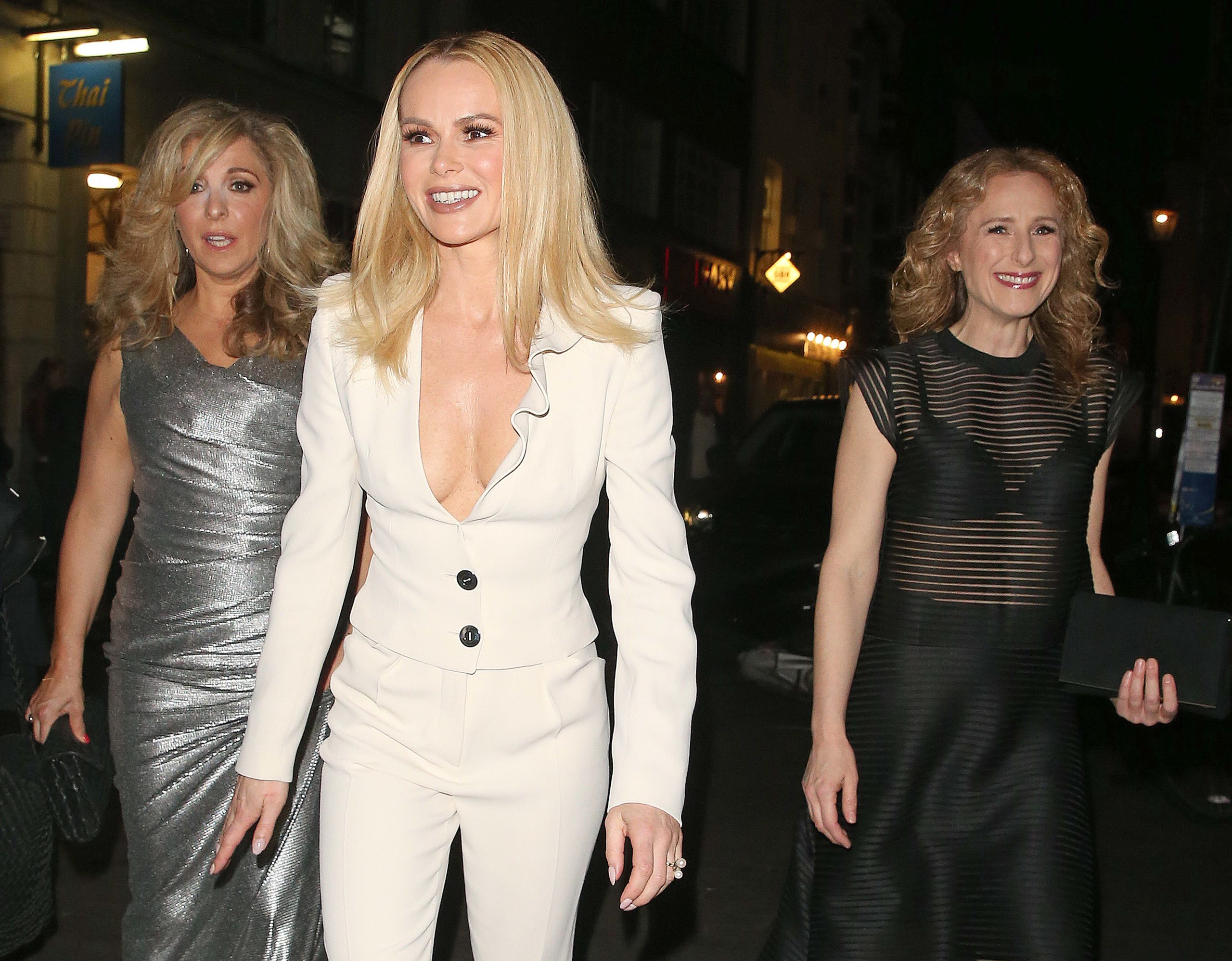 Tracy-Ann Oberman, Amanda Holden and Nicola Stephenson on a night out