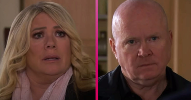 EastEnders Sharon Watts and Phil Mitchell