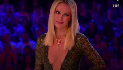 Amanda Holden poses in her underwear