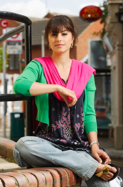 Zahra Ahmadi as Shabnam in EastEnders