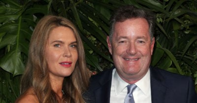 Piers with his second wife Celia Walden