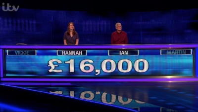 Ian and Hannah on The Chase