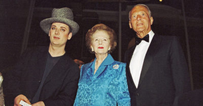 boy george with margaret thatcher