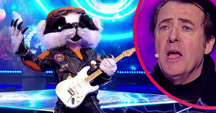 Jonathan Ross on The Masked Singer with Badger
