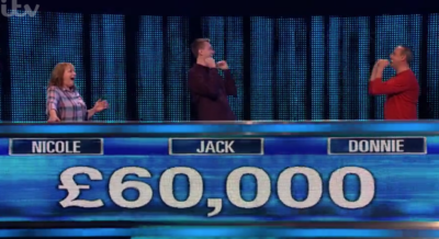 The team won £60k on The Chase